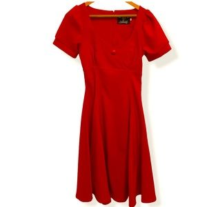 Collectif red Sonia Doll Dress retro swing style